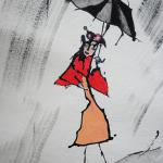 oisive sous la pluie
